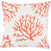 This item: Coral Orange and Neutral 16 x 16-Inch Pillow