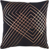 This item: Crescent Black and Gray 22-Inch Pillow with Poly Fill