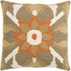 This item: Taupe and Beige Flower Pattern Wool 18 x 18 Pillow