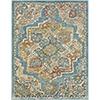 This item: Herati Aqua, Butter and Rust Rectangular: 5 Ft. 3 In. x 7 Ft. 3 In. Rug