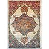 This item: Herati Aqua, Orange and Red Rectangular: 3 Ft. 11 In. x 5 Ft. 11 In. Rug
