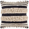 This item: Helena Charcoal and Cream 18 In. x 18 In. Pillow with Down Insert