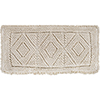 This item: Hanneli Cream 12 x 30 In. Pillow with Polyester Insert