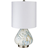 This item: Orleans White and Blue One-Light Table Lamp