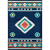 This item: Paramount Navy and Aqua Rectangular: 6 Ft. 7 In. x 9 Ft. 6 In. Rug