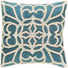This item: Pastiche Blue and Neutral 20-Inch Pillow Cover