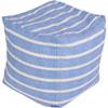 This item: Blue and Neutral Poufs Cube Pouf
