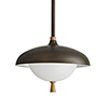 This item: Stanwick Brown One-Light Outdoor Pendant