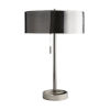 This item: Violetta Dark Vintage Silver Two-Light Table Lamp