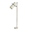 This item: Yasmin Silver Two-Light Floor Lamp