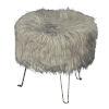 This item: Camila Gray Faux Fur Hair Pin Stool