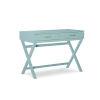 This item: Pamela Pastel Turquoise Two Drawer Desk