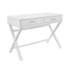 This item: Pamela White Two Drawer Desk