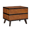 This item: Isabella Walnut Two Drawer Nightstand