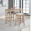 This item: Ian Distressed Brown 42-Inch Bar Height Pub Table