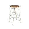 This item: Shea Aged Walnut and White Adjustable Bar Stool