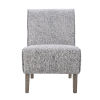 This item: Lilah Rustic Gray Upholstered Slipper Chair