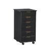This item: Hudson Black Six-Drawer Rolling Storage Cart