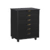 This item: Cary Black Six-Drawer Wide Rolling Storage Cart