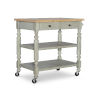 This item: Alva Gray and Green Kitchen Cart