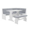 This item: Charlotte White 66-Inch Nook Table Set