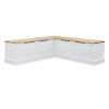 This item: Triena White 62-Inch Two Tone Breakfast Nook