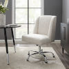 This item: James Chrome Upholstered Swivel Office Chair