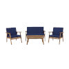 This item: Cole Outdoor Chat 4-Piece Seating Set with Blue Cushions