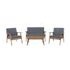 This item: Cole Outdoor Chat 4-Piece Seating Set with Grey Cushions