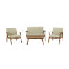 This item: Oliver Natural Outdoor Chat Set