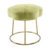 This item: Peggy Gold Green 18-Inch Vanity Stool