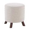 This item: Rivard Beige and Walnut Round Stool