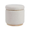 This item: Blanche Natural Storage Ottoman