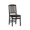 This item: Triena Espresso Mission Back Folding Chairs - Set of Two