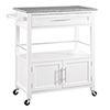 This item: Cameron White Kitchen Cart with Granite Top