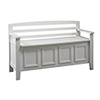 This item: Laredo White Storage Bench