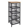 This item: Rustic Brown and Iron Drawer Unit