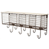 This item: Black and White Four Cubby Wall Shelf