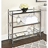 This item: Pinnacle Chrome Bathroom Floor Console