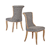 This item: Sheffield Charcoal Flared Back Chairs - Set of Two