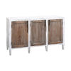 This item: Wilder Front Porch White and Weathered Tuscan 56-Inch Three-Door Credenza