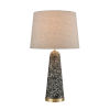 This item: Port 17 Gray Terazzo and Antique Brass 13.5-Inch Table Lamp
