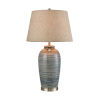 This item: Monterey Blue Glaze and Satin Nickel 17-Inch Table Lamp