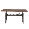 This item: Artezia Weathered Gray and Gray Zinc Drafting Desk