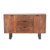 This item: Belfrie Walnut and Antique Zinc Sideboard