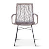 This item: Bali Gray Whitewash and Metal Anthracite Armchair, Set of Two
