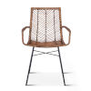 This item: Bali Jawit Honey Brown Wash and Metal Anthracite Armchair, Set of Two