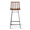 This item: Bali Brown Honey Washed Bar Chair, Set of 2