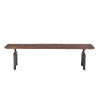 This item: Dakota Weathered Teak And Black Rubbed Dining Bench With Cast Iron Base