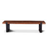 This item: Durango Distressed Aged Teak and Matte Black Bench